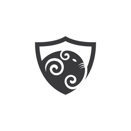 elephant defense vector icon illustration design template  イラスト・ベクター素材