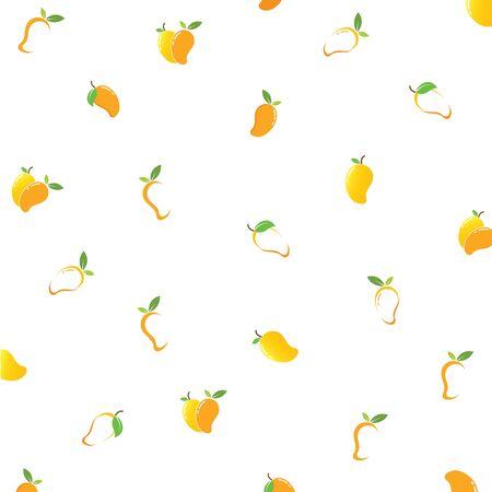 mango fruit background  vector illustration logo icon