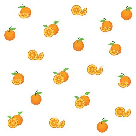 orange fruit background vector  illustration concept  design template  イラスト・ベクター素材