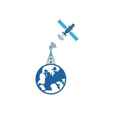 satellite vector icon illustration design template