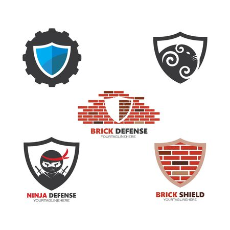 Shield symbol logo template vector illustration  イラスト・ベクター素材