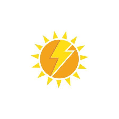 solar energy logo vector icon illustration design