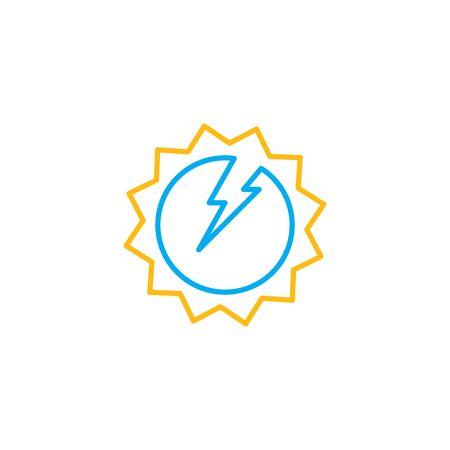 solar energy  logo vector icon illustration  design  イラスト・ベクター素材
