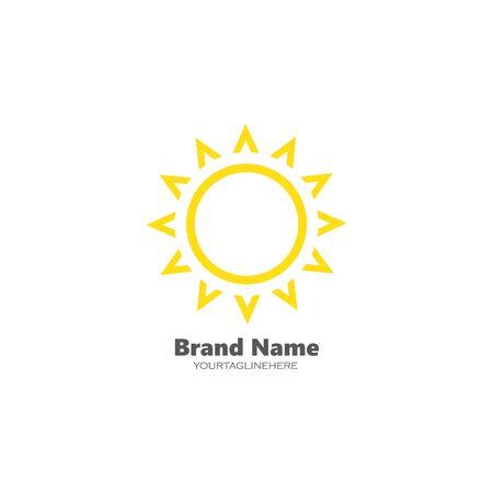 sun ilustration logo vector icon template  イラスト・ベクター素材