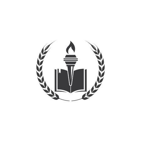 education and torch logo  illustration vector design Illustration
