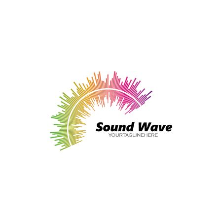 equalizer and sound effect ilustration logo vector icon template  イラスト・ベクター素材
