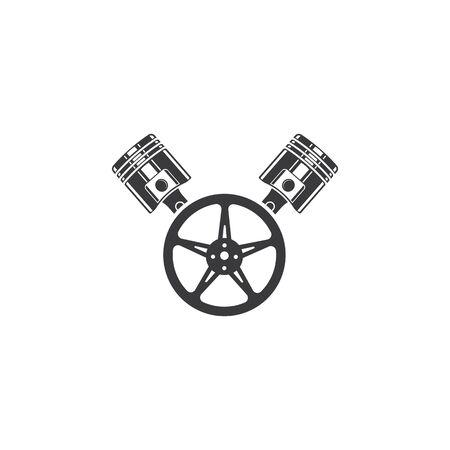 piston vector icon illustration design template