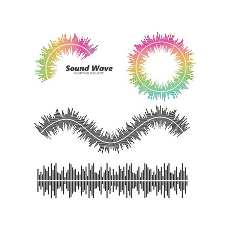 equalizer and sound effect ilustration logo vector icon template Illustration