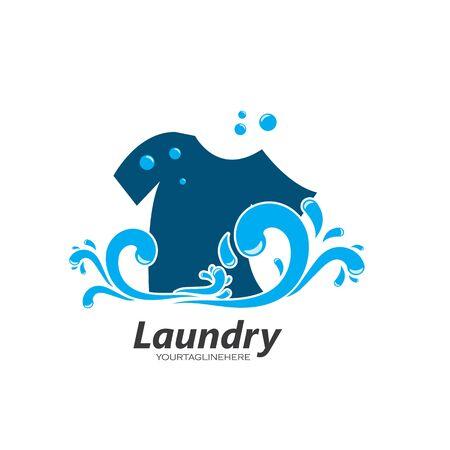 Laundry logo vector icon illustration design template  イラスト・ベクター素材