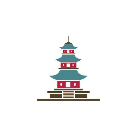 pagoda icon vector illustration design