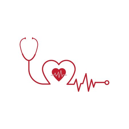 stethoscope icon vector illustration design template