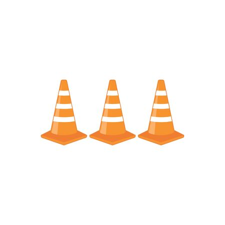 traffic cone vector illustration design template