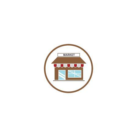 store icon logo vector illustration design