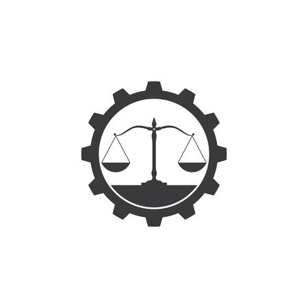 lawyer logo vector icon  template