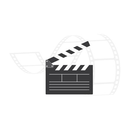 clapperboard  logo icon element vector illustration design 向量圖像