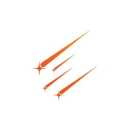 meteor vector icon illustration design template