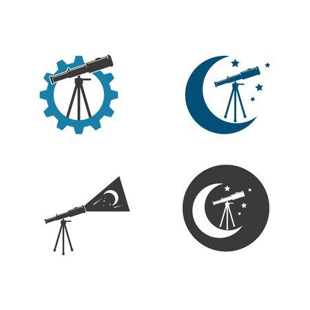 telescope icon vector illustration design template 向量圖像