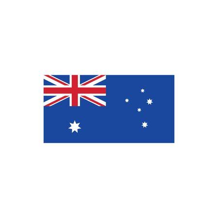 australian flag vector icon illustration design template