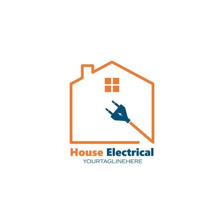 electrical service and installation logo icon vector design