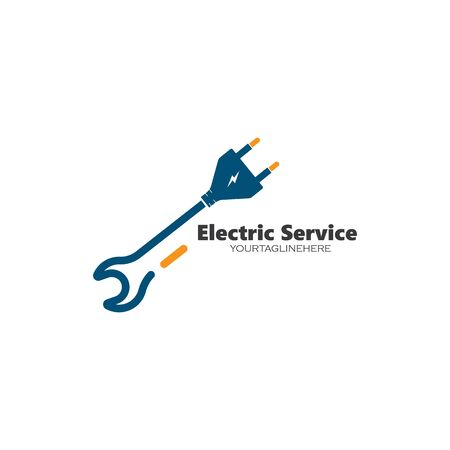 electrical service and installation logo icon vector design