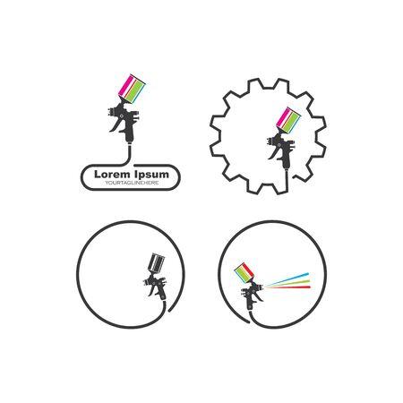 spraygun vector icon illustration design template 向量圖像