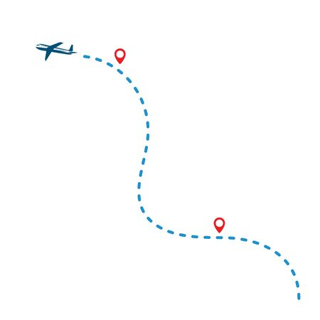 plane flight route vector illustration design Illustration