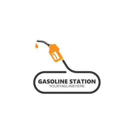 gasoline refueling station  vector illustration design