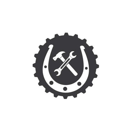 horse shoe service repair  icon logo vector illustration design Reklamní fotografie - 151132646