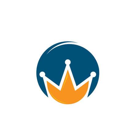 royal crown logo icon vector illustration design Çizim