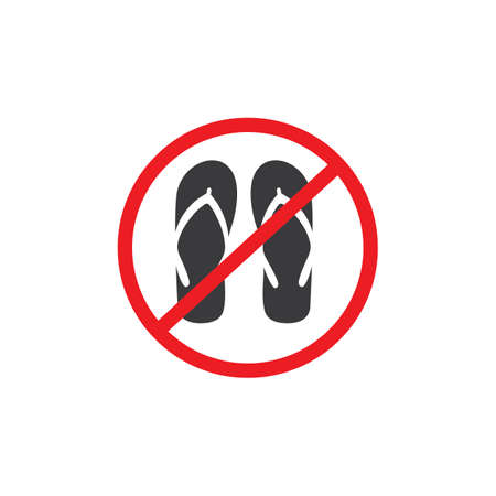forbidden slippers icon vector illustration design template Vectores