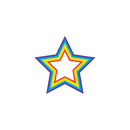 rainbow star  logo icon vector template design