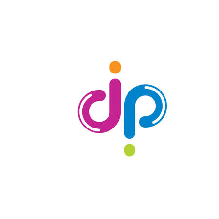 dp letter logo icon illustration vector design Stock Illustratie