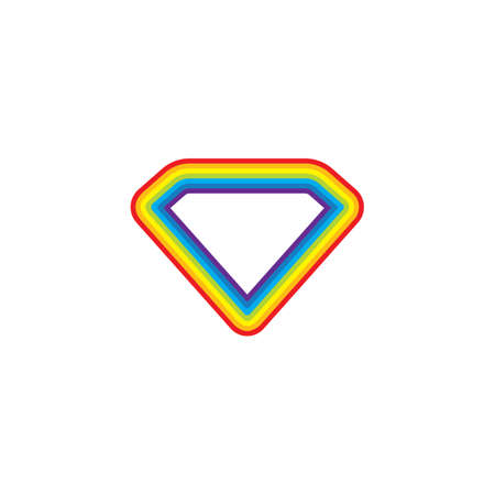 rainbow diamond  logo icon vector template design