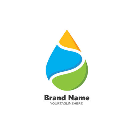 water drop Logo Template vector illustration design Stock Illustratie