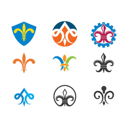 fleur de lis icon vector illustration design template