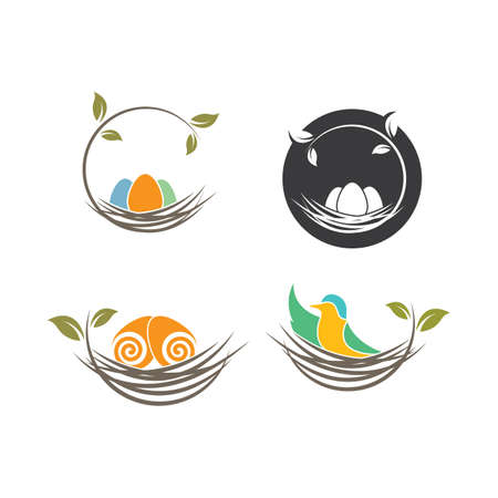 nest icon vector illustration design template Stock Illustratie