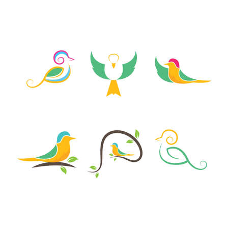 bird vector illustration design template Stock Illustratie