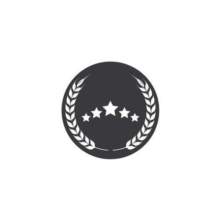 5 star vector illustration design template