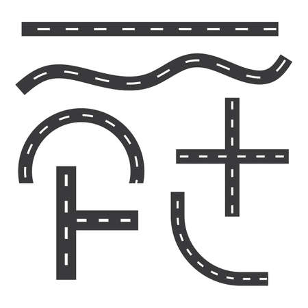 road way vector icon illustration design template