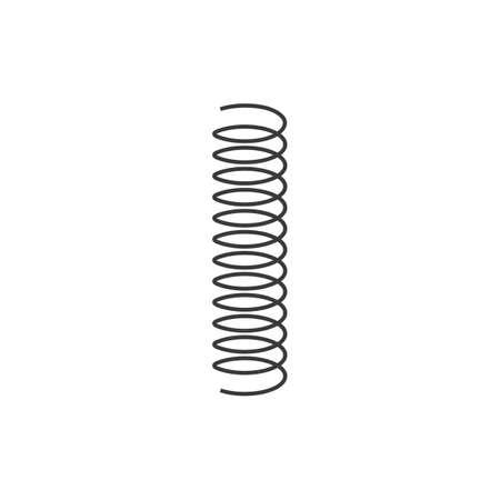metal spring vector icon illustration design template