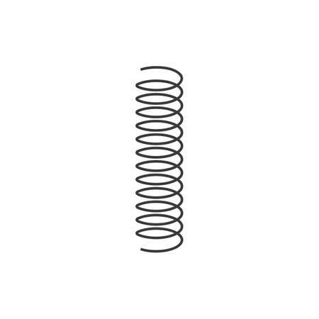 metal spring vector icon illustration design template Stock Illustratie
