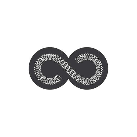 metal spring vector icon illustration design template Illustration