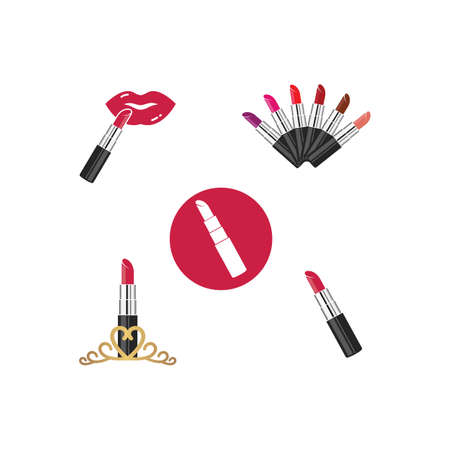 lipstick vector illustration design template