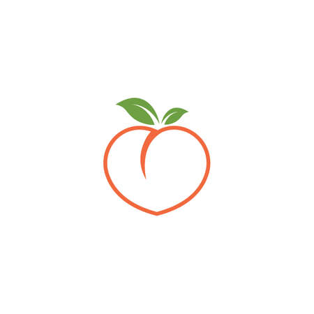 peach fruit icon vector illustrtion design template Illusztráció
