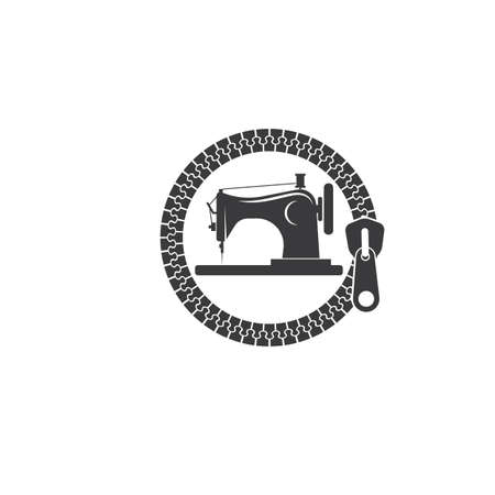 sewing machine icon logo vector illustration