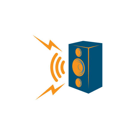 speaker icon vector illustration design template Illusztráció