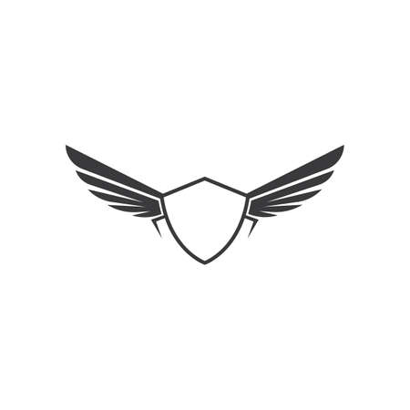 wings  symbol icon vector illustration template