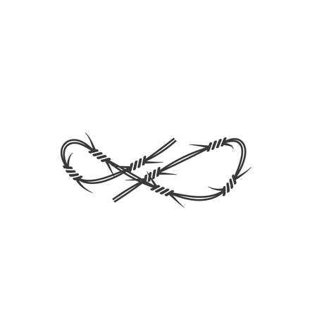 barbed wire vector illustration design template Illusztráció