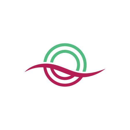 circle ring logo template vector design Illustration