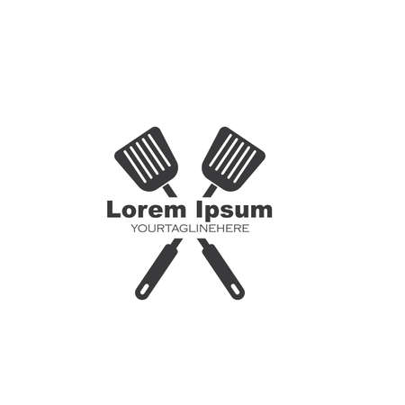spatula logo icon vector illustration design
